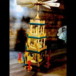 Vintage 4 Tier Wooden Candle Carousel